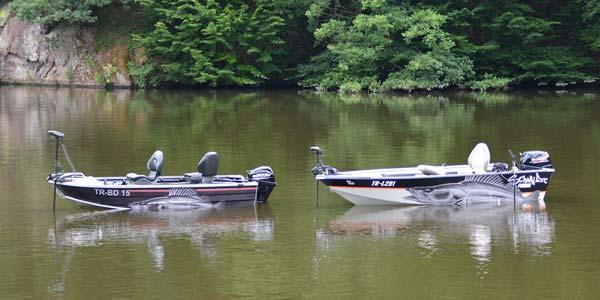 Zander Fisch Aufkleber auf Angelboote