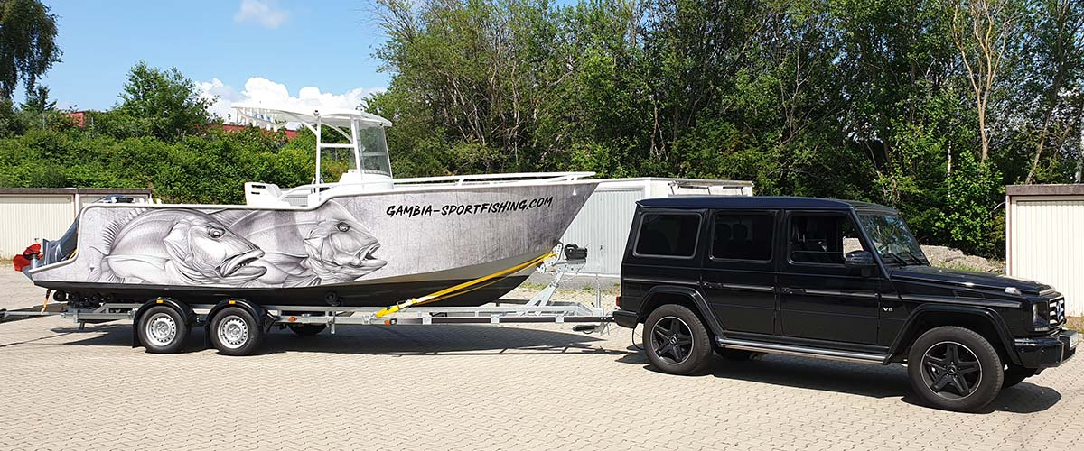 Boat Wrapping Fishing Boat Big Game