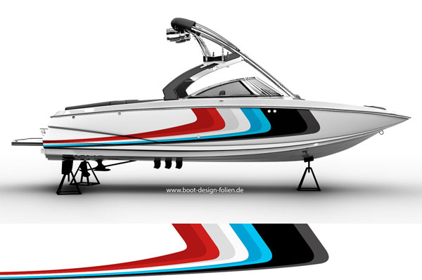 Designfolie für Motorboot