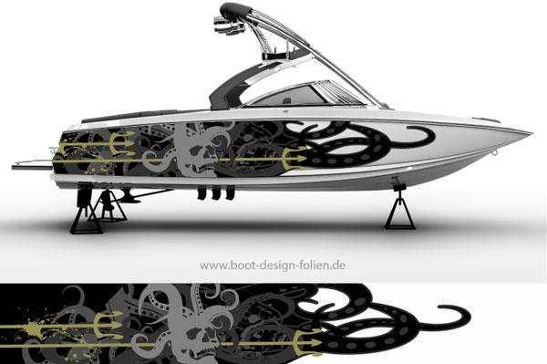 Boot Folierung Kraken Octopus
