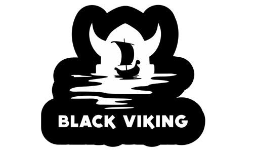 Black Viking Logo als Aufkleber