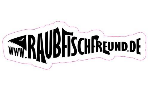 Raubfischfreund Logo als Aufkleber