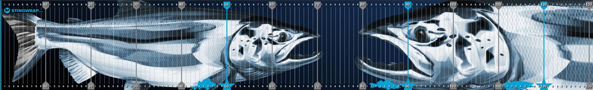 Fischmaßband mit Lachs